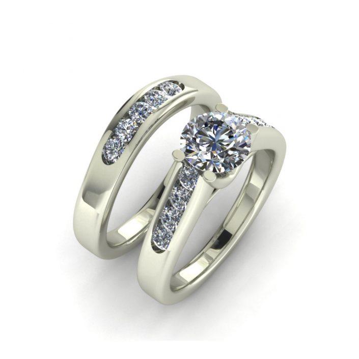 CLASSIC DIAMOND CUSTOM BRIDAL SET