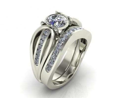 LOOPED DIAMOND CUSTOM BRIDAL SET