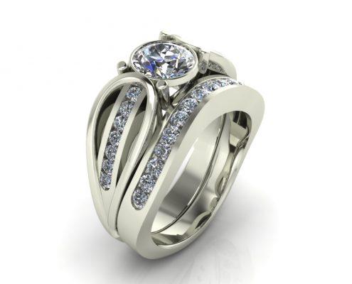 LOOPED DIAMOND CUSTOM BRIDAL SET