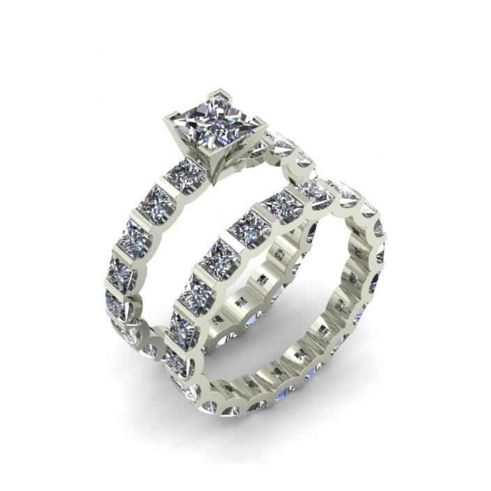 BAR SET DIAMOND CUSTOM BRIDAL SET