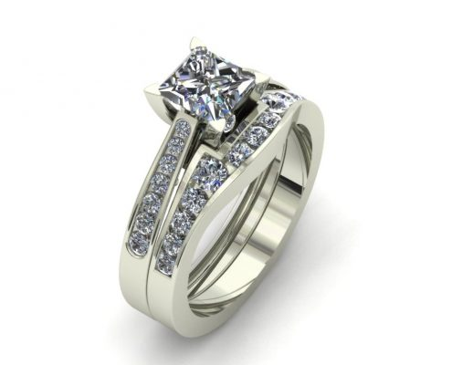 CLASSIC PRINCESS CUT CUSTOM BRIDAL SET