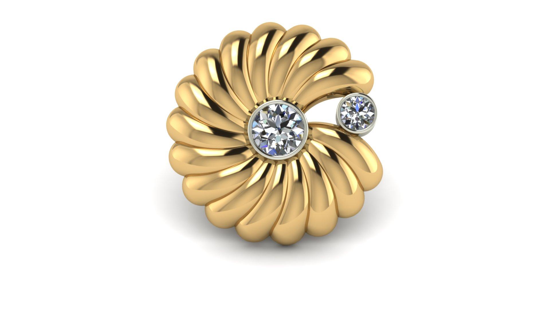 SWIRL DIAMOND PIN