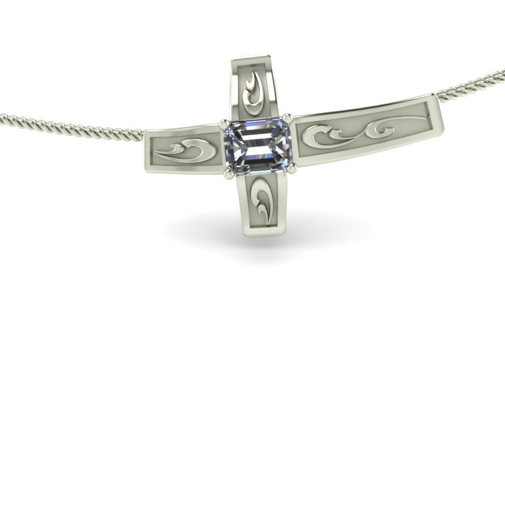 SIDEWAYS CROSS NECKLACE GP-37