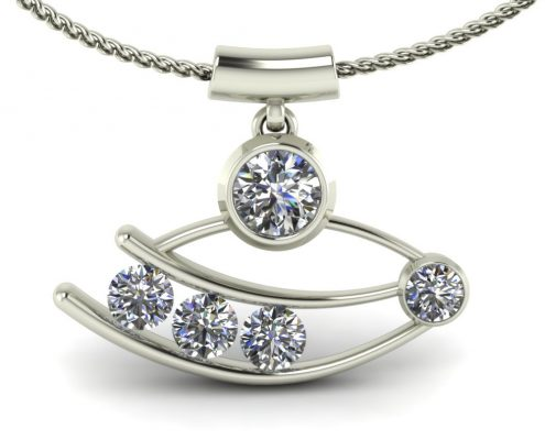ARTSY SIDEWAYS DIAMOND PENDANT GP-01