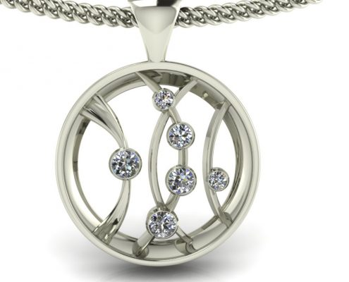 CIRCLE DIAMOND PENDANT GP-35