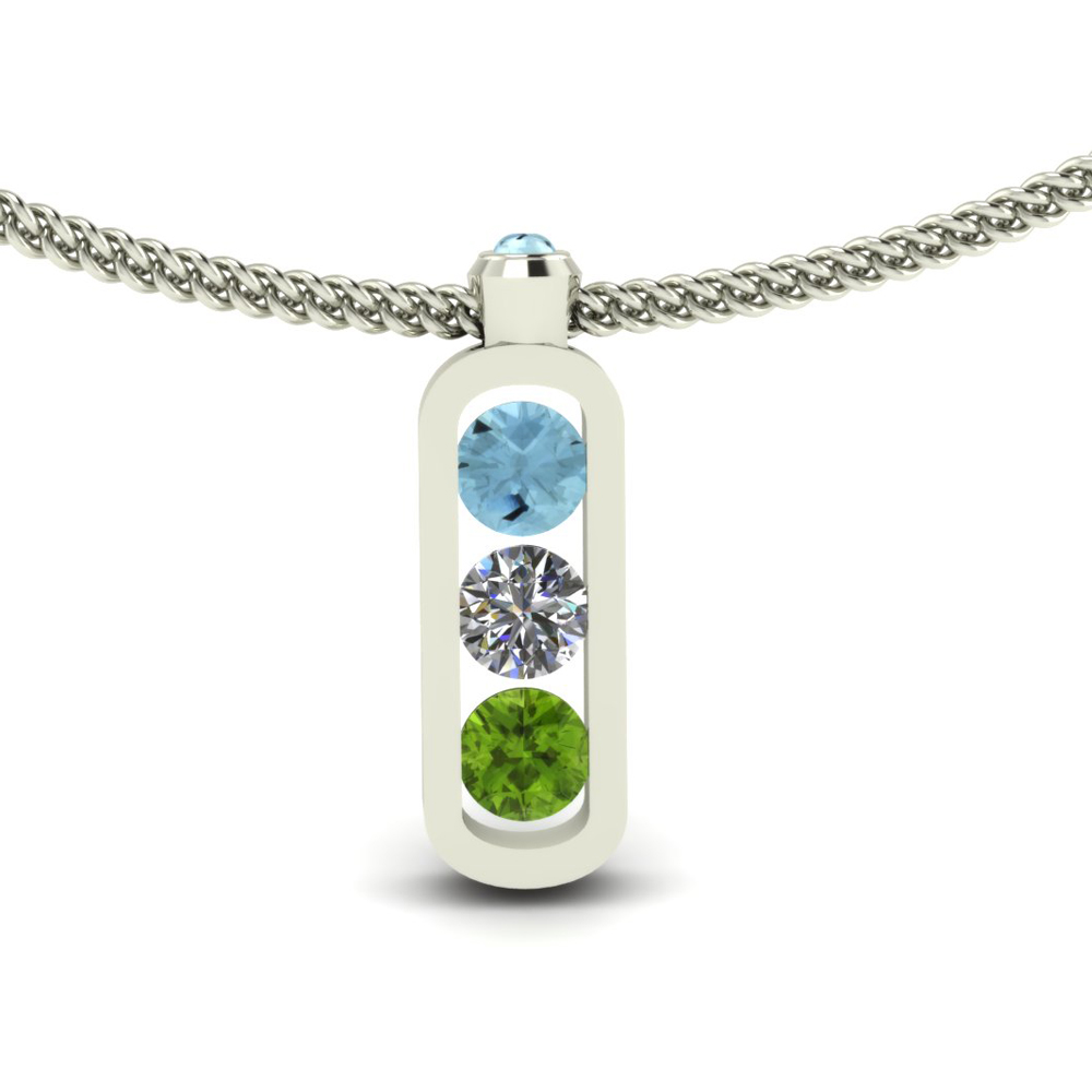 MOTHER'S GEMSTONE PENDANT GP-04