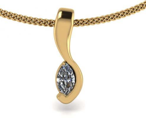 MARQUISE DIAMOND PENDANT GP-05