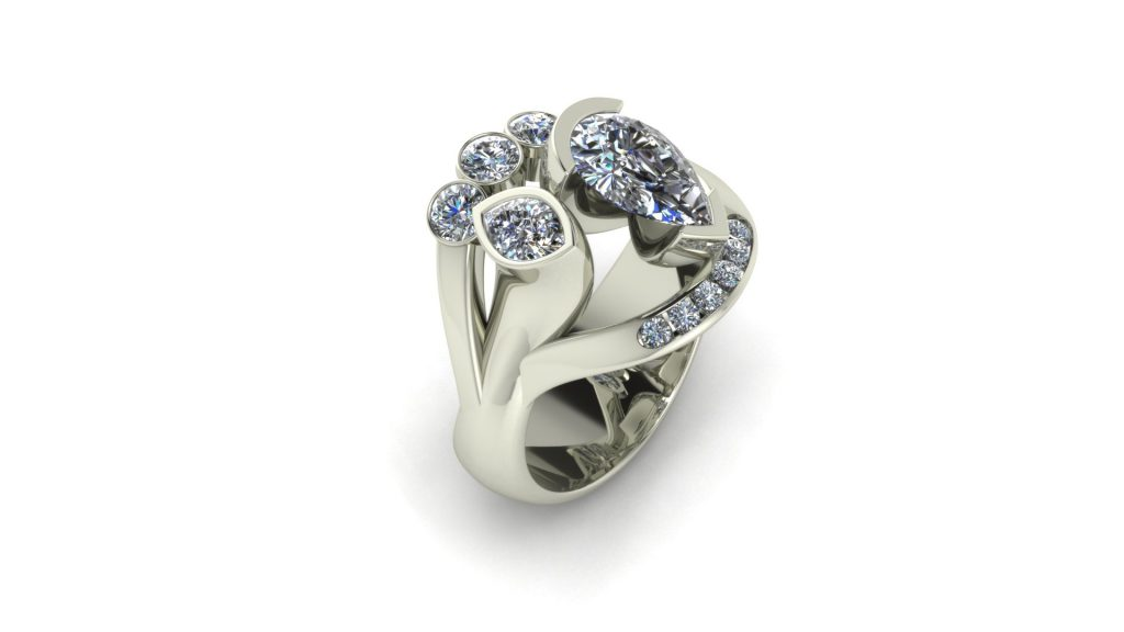 FUNKY DIAMOND FASHION RING