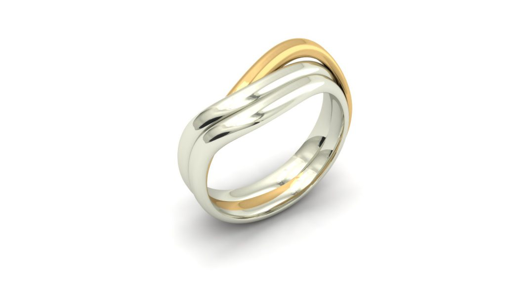2-TONE CROSSOVER RING