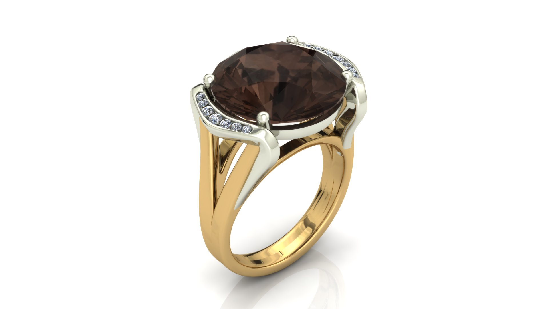 SMOKY QUARTZ FASHION RING
