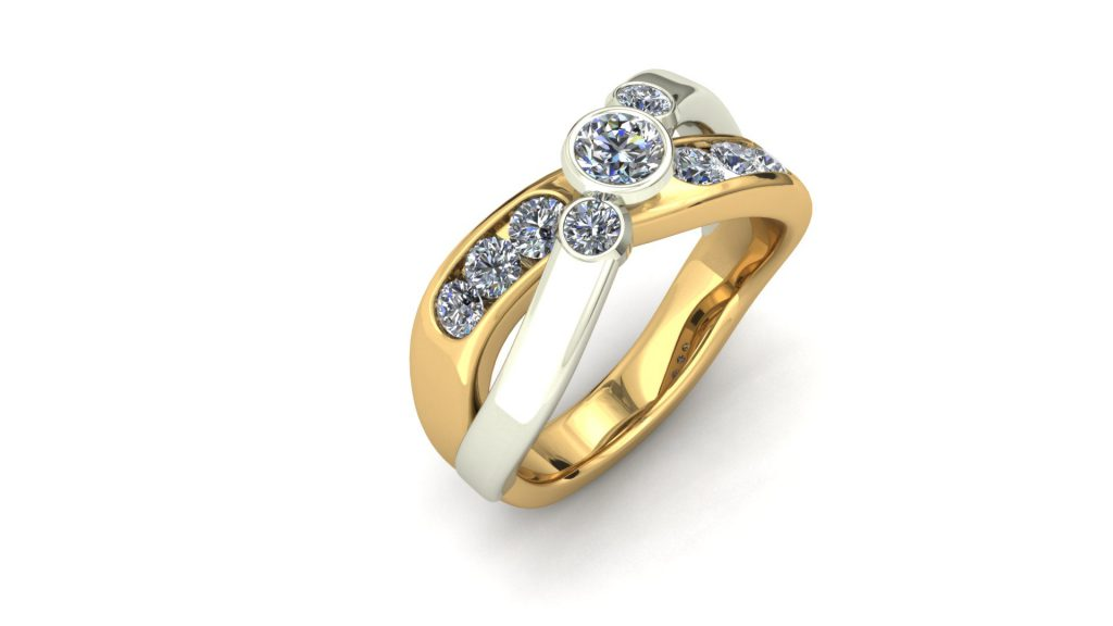CROSSOVER 2-TONE RING