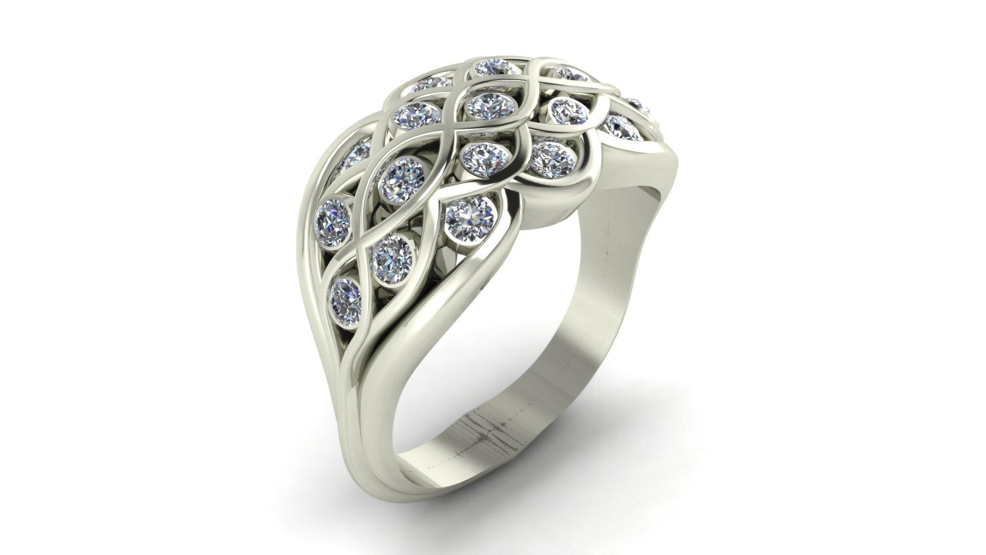 WOVEN DIAMOND RING