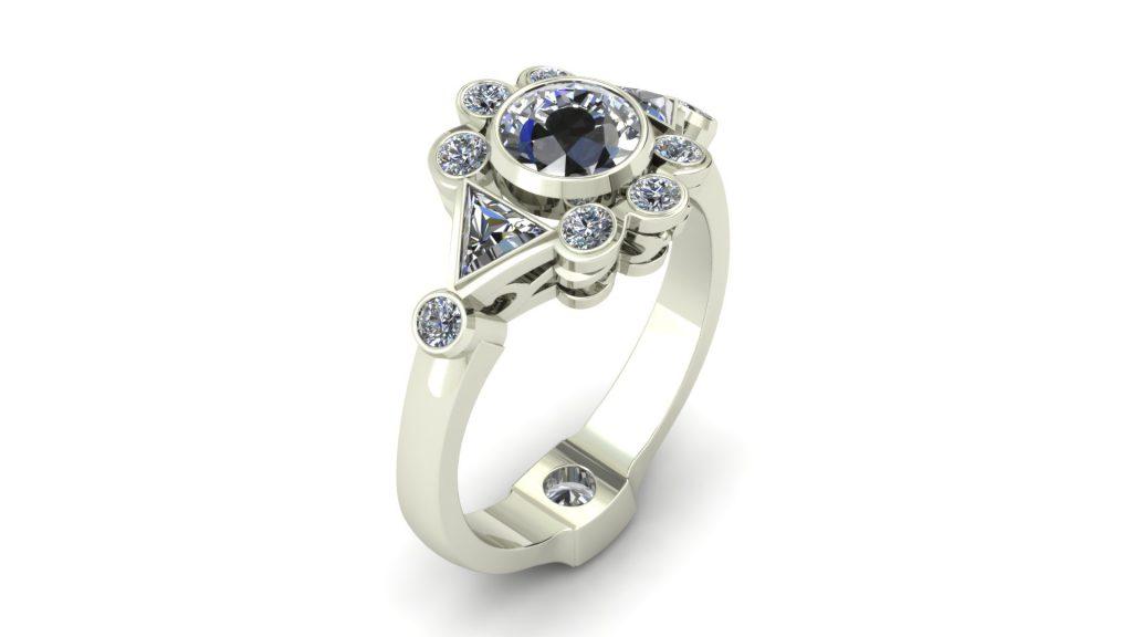 FUNKY DIAMOND FASHION RING
