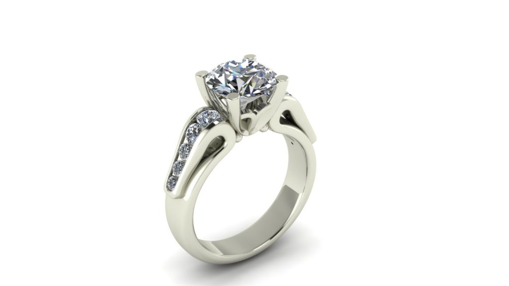 RIBBON STYLE ENGAGEMENT RING