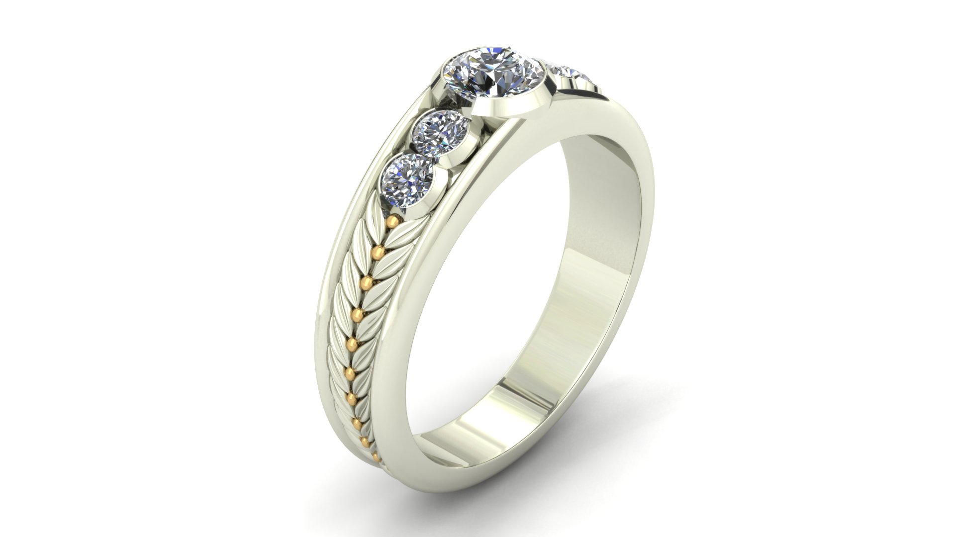 OLIVE LEAF ENGAGEMENT RING