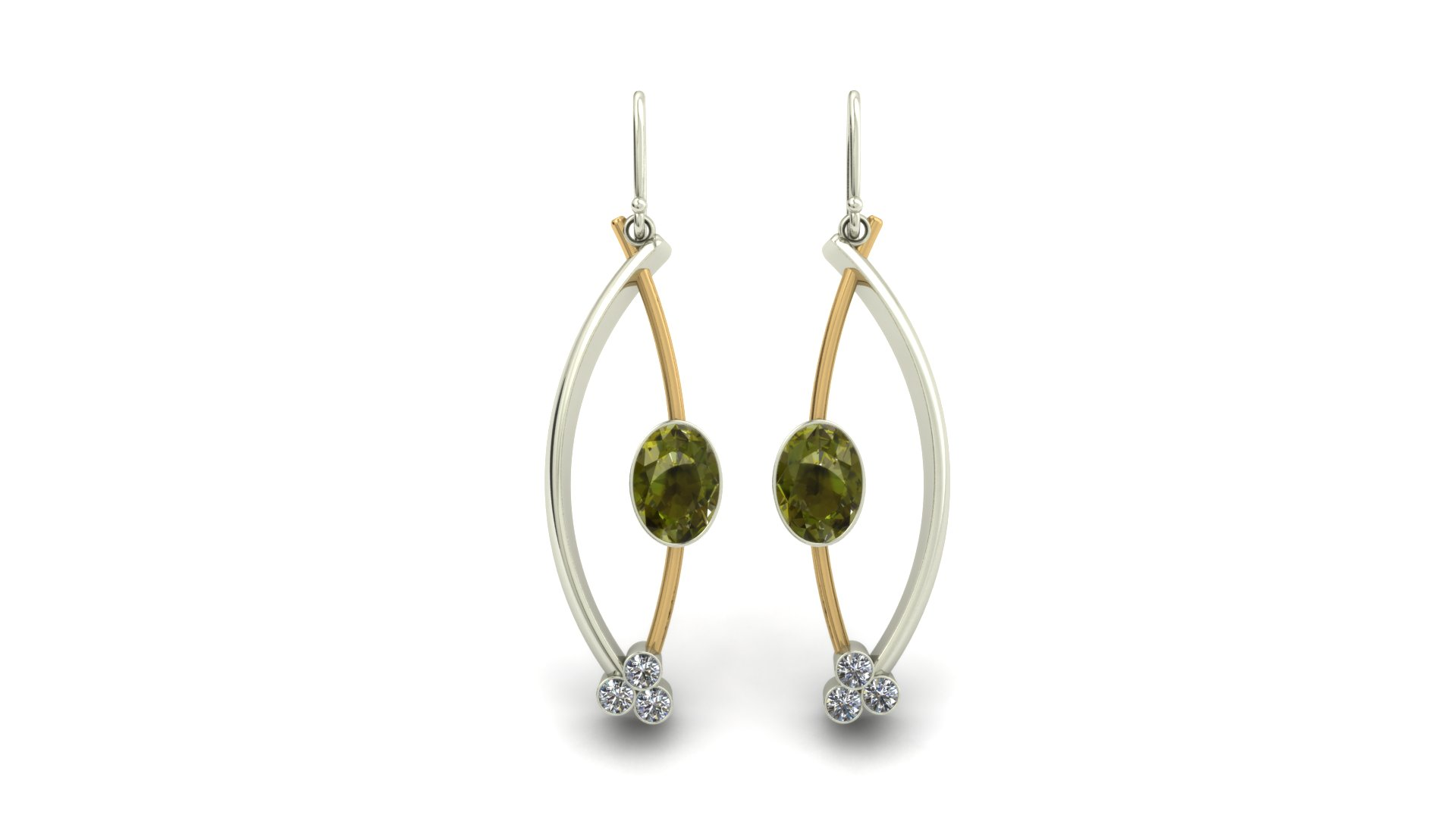 MODERN TOURMALINE EARRINGS