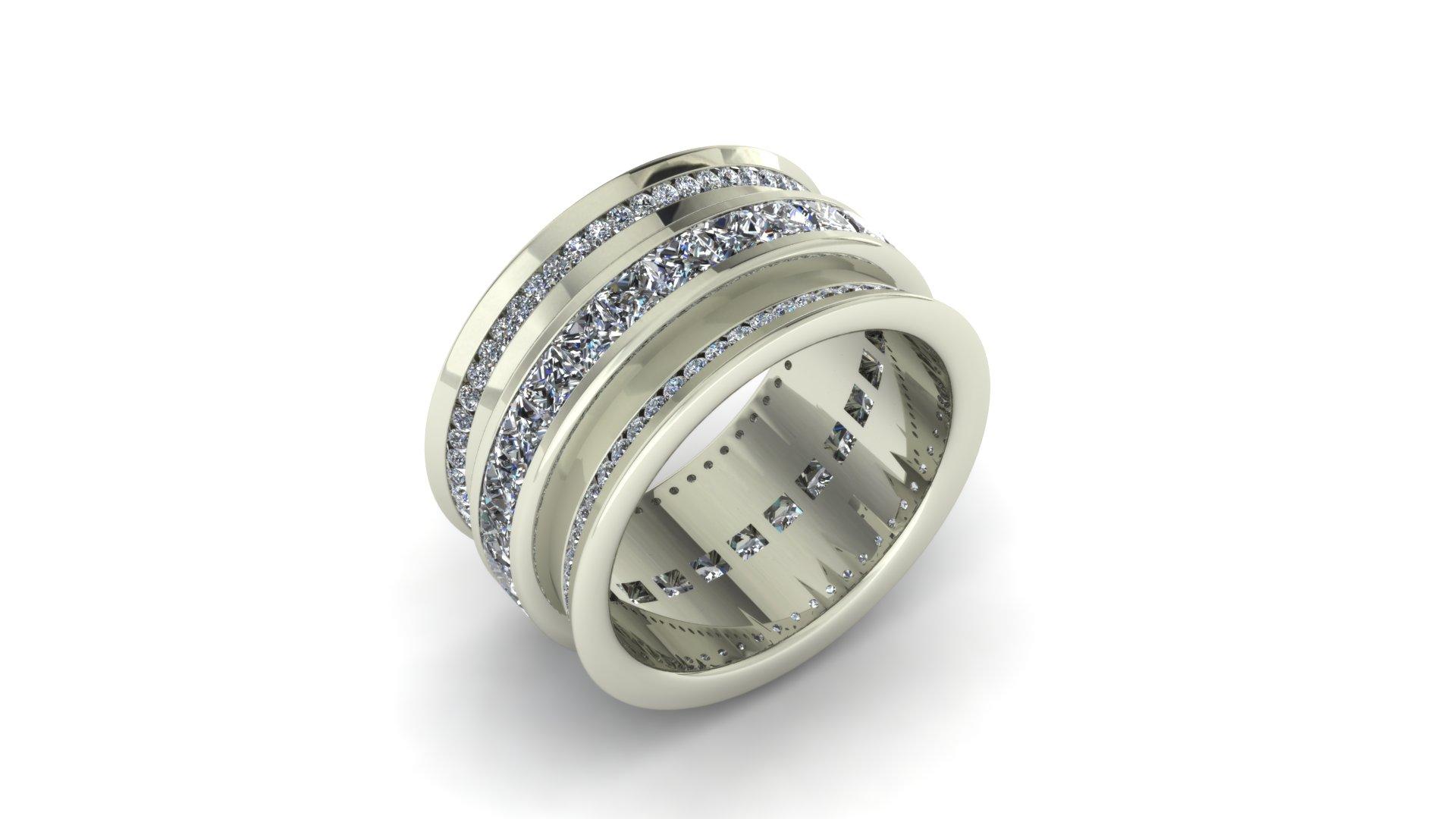 WIDE DIAMOND ETERNITY BAND