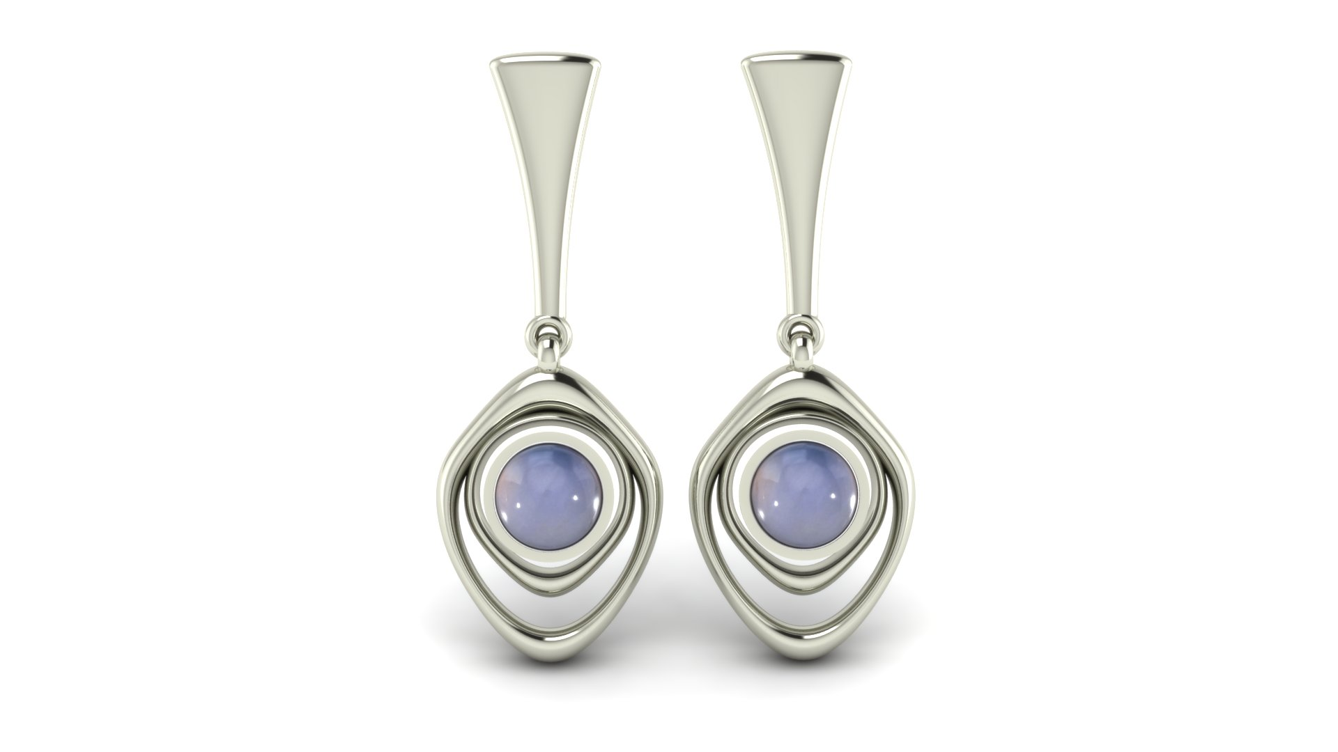 ARTSY MOONSTONE EARRINGS