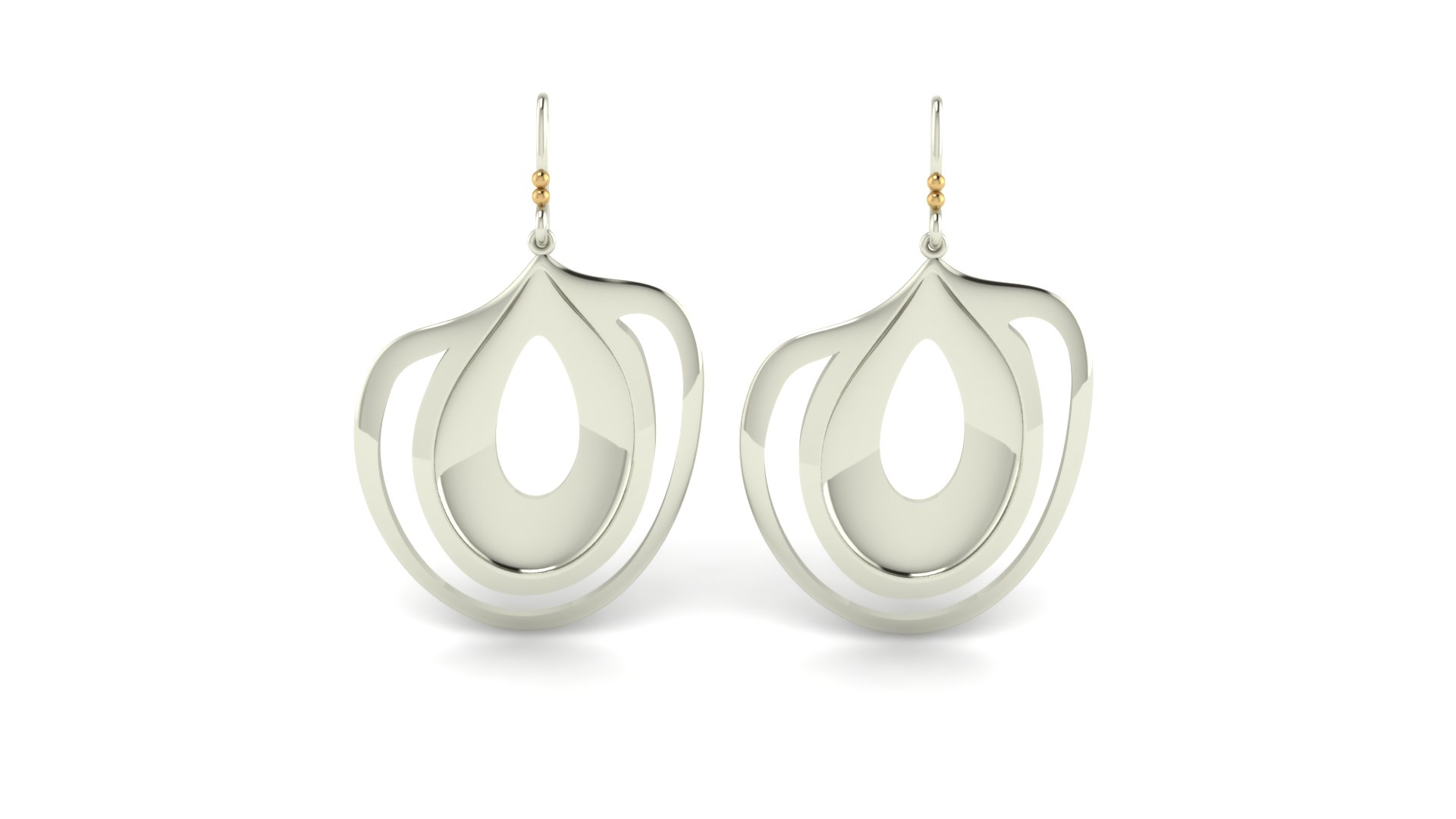 ARTSY OBLONG OVALS EARRINGS