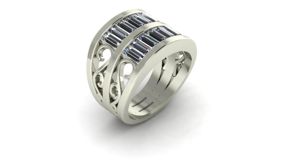 2-ROW BAGUETTE RING