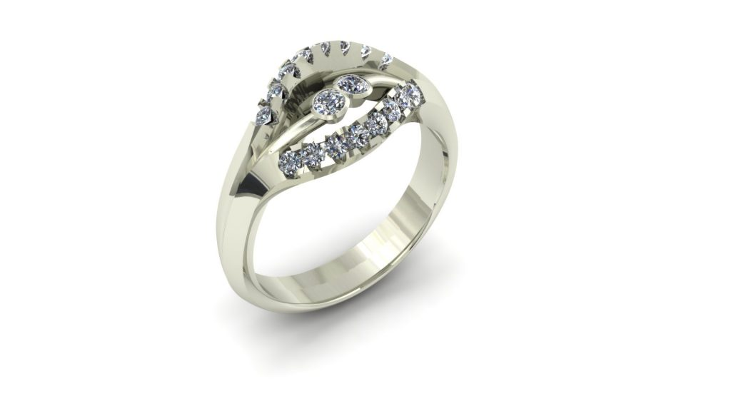 THREE BAND DIAMOND RING