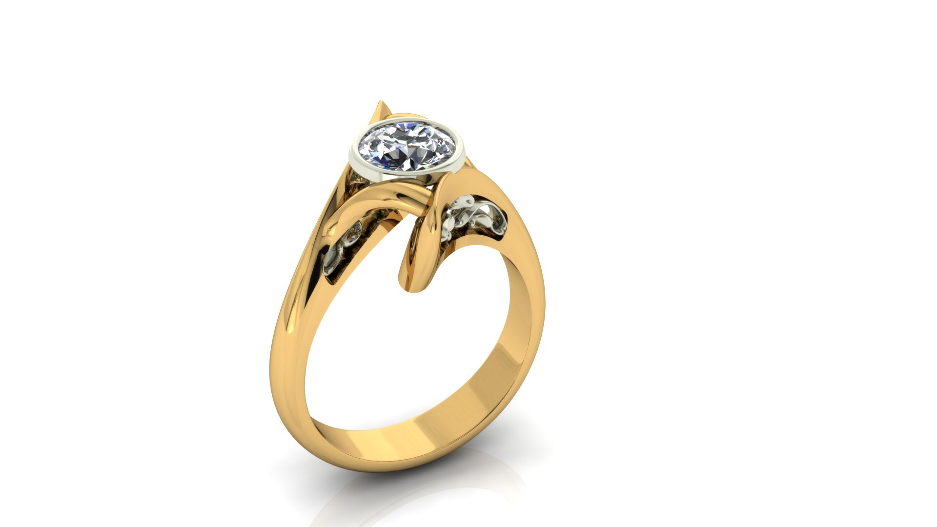 ARTISTIC YELLOW GOLD RING