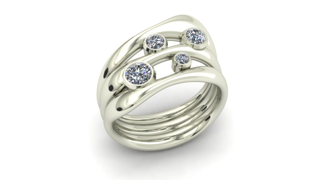 ORGANIC WIDE DIAMOND RING