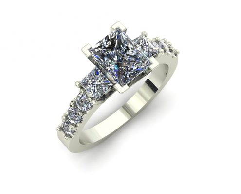 PRINCESS CUT CUSTOM ENGAGEMENT RING