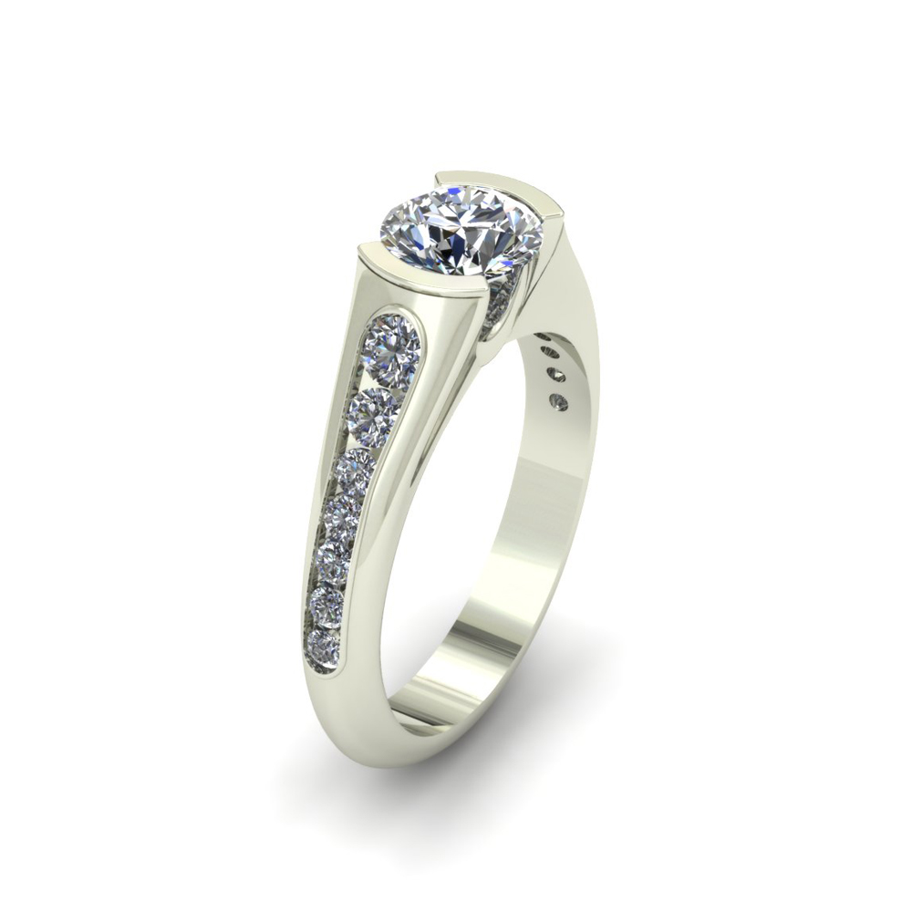 PARTIAL BEZEL CUSTOM ENGAGEMENT RING