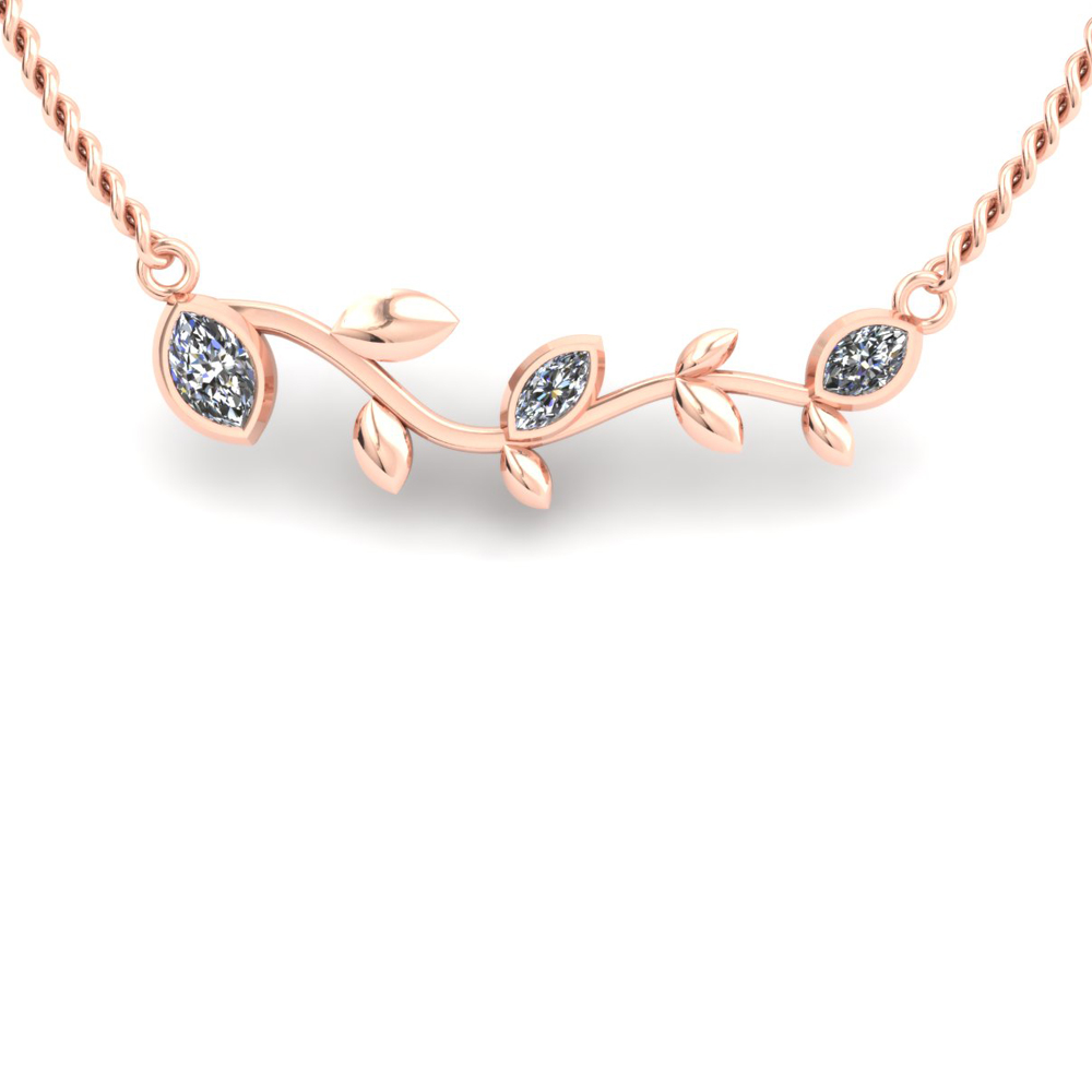 ROSE GOLD CUSTOM BRANCH NECKLACE