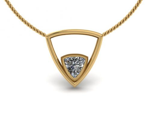 TRIANGLE DIAMOND CUSTOM PENDANT