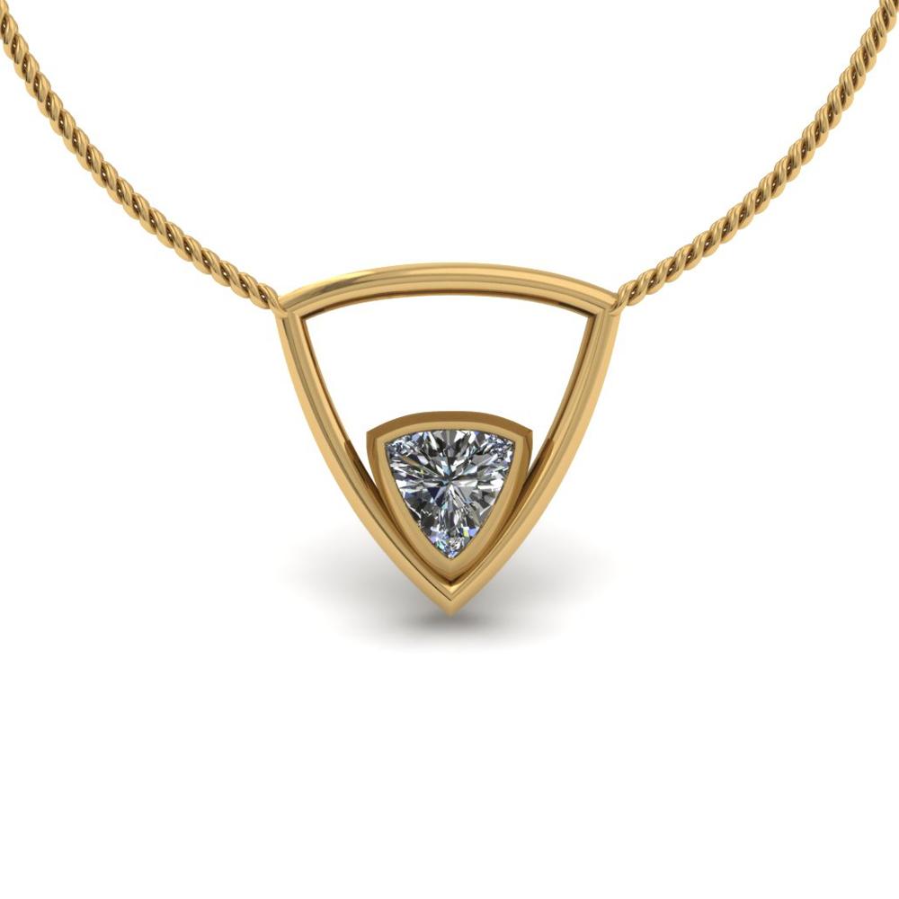 TRIANGLE DIAMOND CUSTOM PENDANT