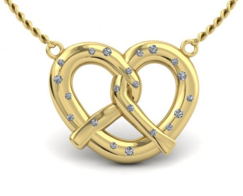 CUSTOM GOLD PRETZEL NECKLACE