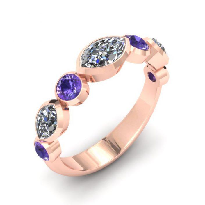 ROSE GOLD UNIQUE CUSTOM WEDDING RING