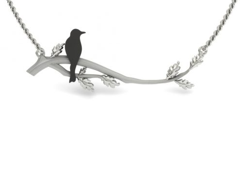 STERLING SILVER CUSTOM BRANCH NECKLACE