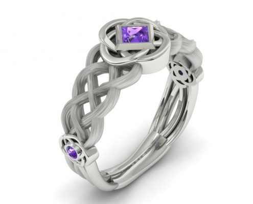 Celtic inspired custom wedding ring