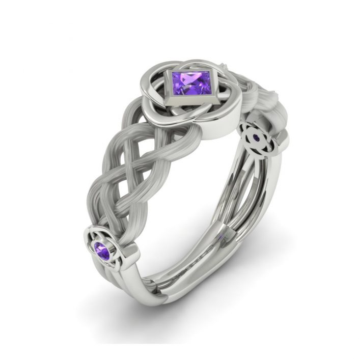 Celtic inspired custom wedding ring