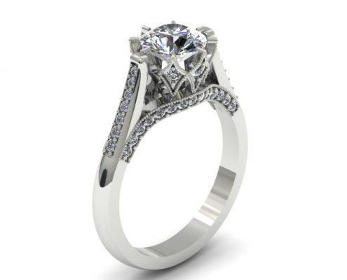 VINTAGE INSPIRED CUSTOM ENGAGEMENT RING
