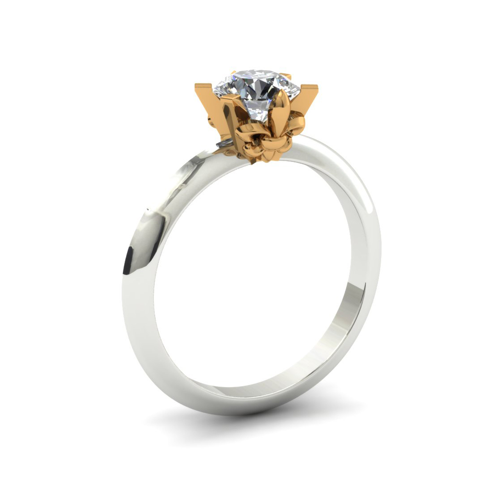 FLEUR DE LIS CUSTOM ENGAGEMENT RING