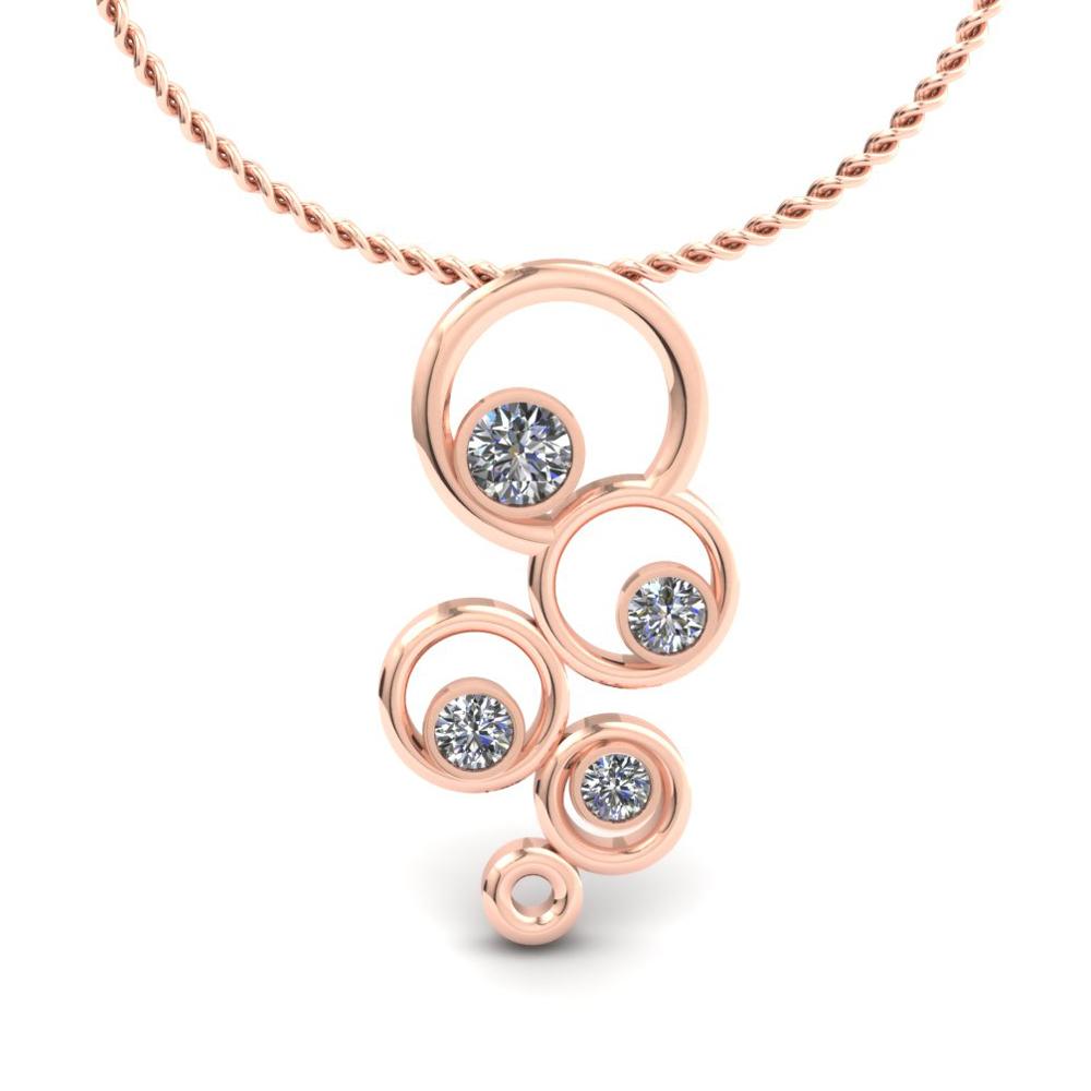 rose gold custom circle pendant