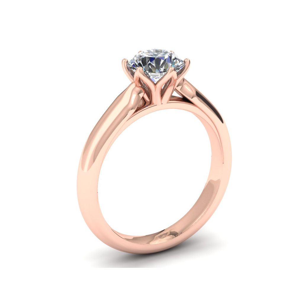 ROSE GOLD CUSTOM SOLITAIRE ENGAGEMENT RING