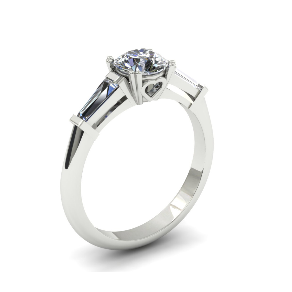 SIMPLISTIC HEART ACCENT DIAMOND CUSTOM ENGAGEMENT RING