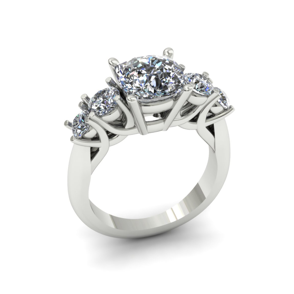 5 STONE DIAMOND CUSTOM ENGAGEMENT RING