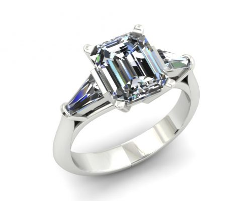 EMERALD CUT CUSTOM DIAMOND ENGAGEMENT RING