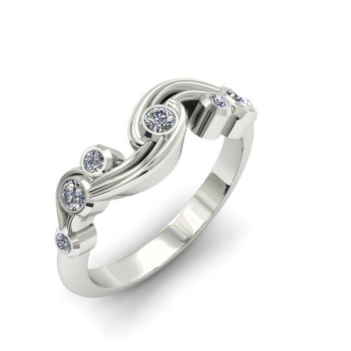 DIAMOND WAVE CUSTOM FASHION RING