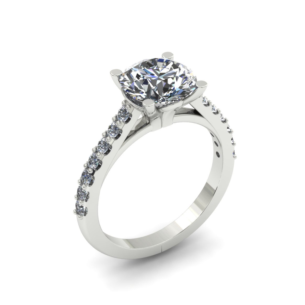 SHARED PRONG CUSTOM DIAMOND ENGAGEMENT RING