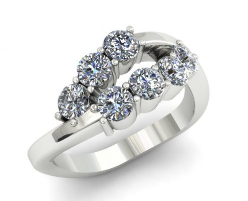 6 STONE CUSTOM DIAMOND FASHION RING