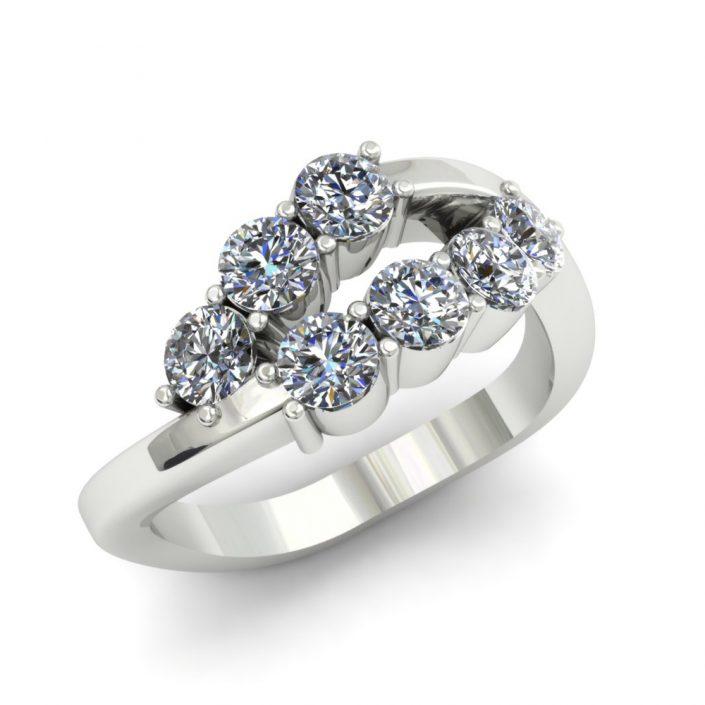 6 STONE CUSTOM DIAMOND FASHION RING
