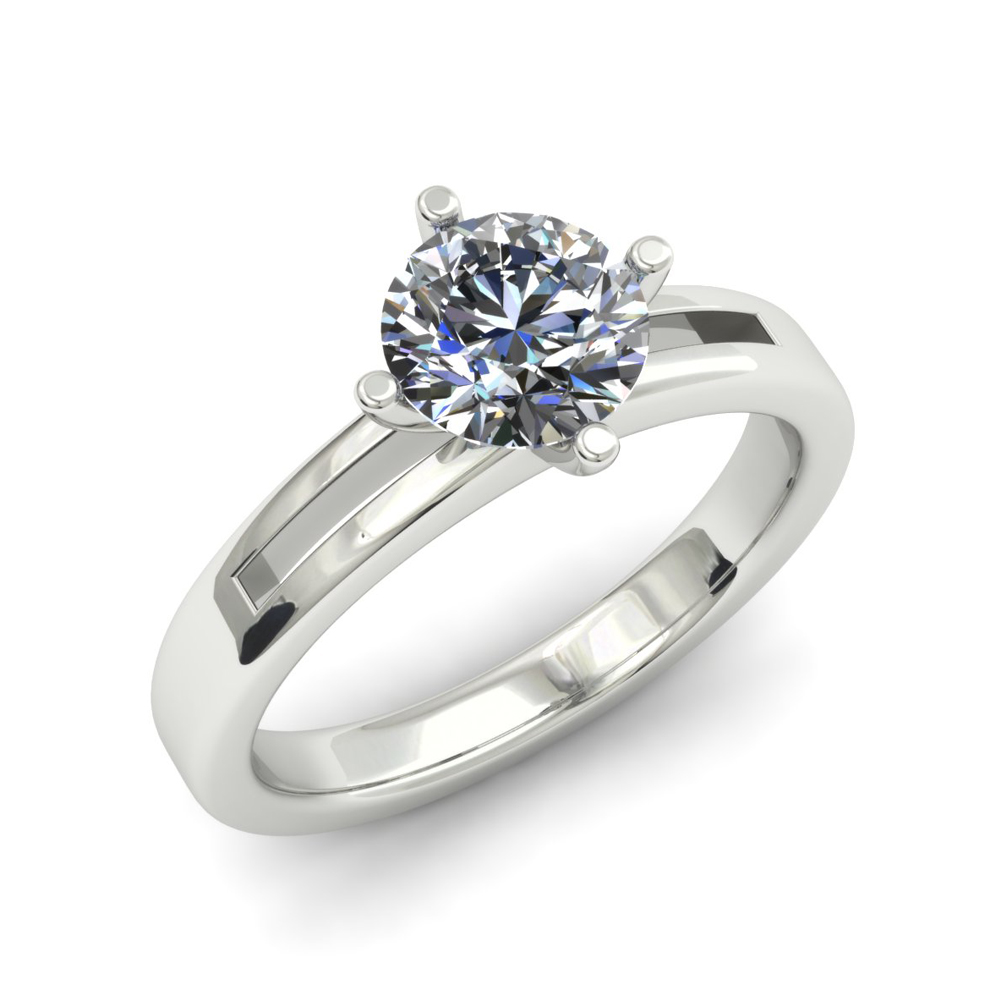 COMPASS STYLE SOLITAIRE CUSTOM DIAMOND ENGAGEMENT RING