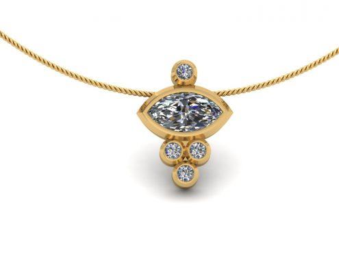 MARQUIS DIAMOND BEZEL